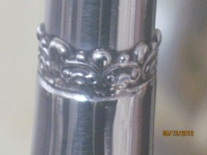 Silver craftsmanship midway of trumpet length