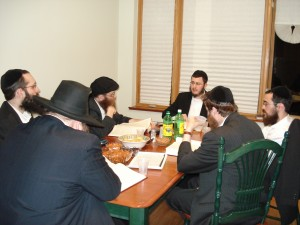 A group of Kohanim studying the Mishnayot laws of Keilim in anticipation of the rebuilding of the Beit Hamikdash.