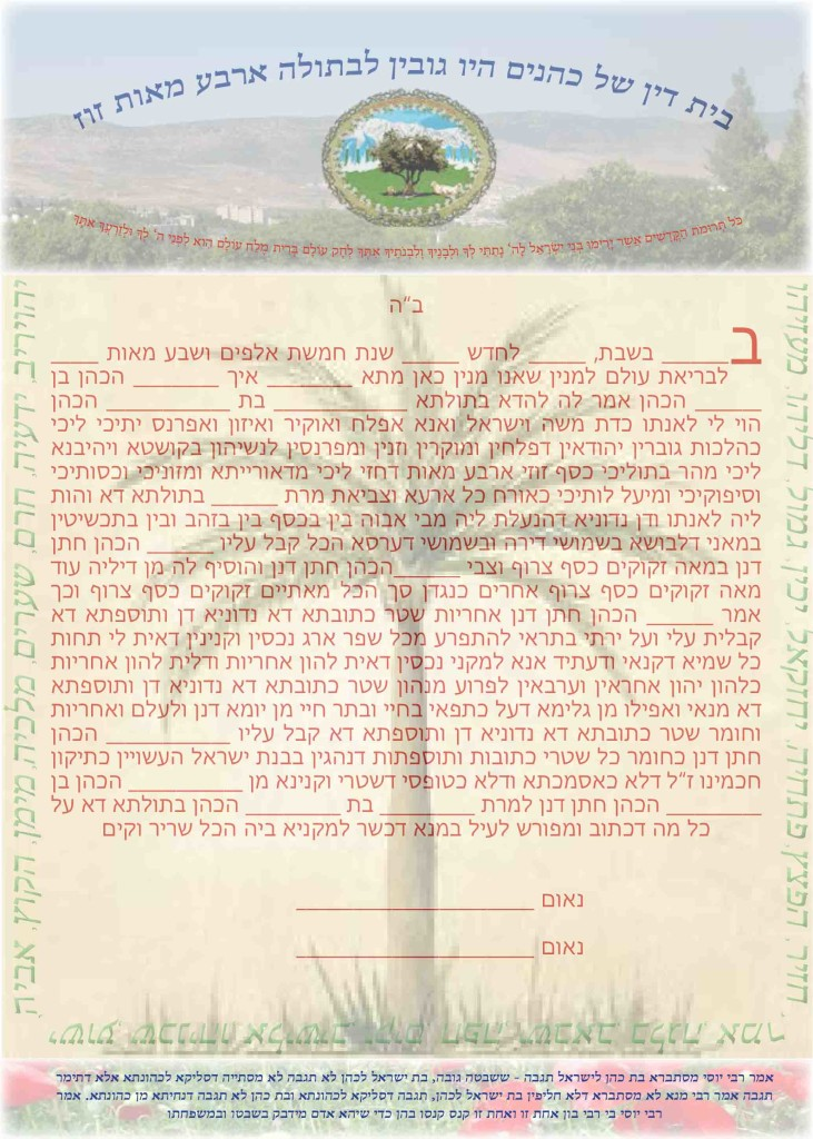 The uniqueness of the ketubah of a Bat-kohen marrying a kohen is the increased amount in the even of divorce - of 400 zuz instead of the standard 200 zuz